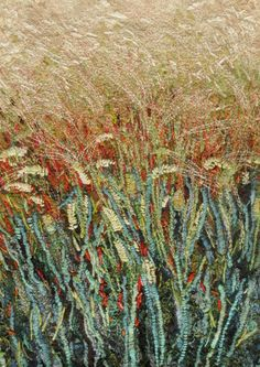 'Wheat field study' by Fiona Robertson - Textile Artist