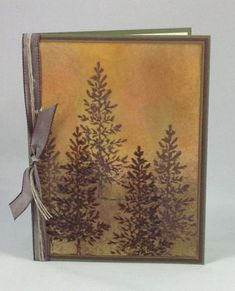 Lovely as a Tree Scenery Card by KarenNewquist - Cards and Paper Crafts at Splitcoaststampers