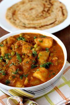 Aloo Matar Sabji | Potato and Pea Curry
