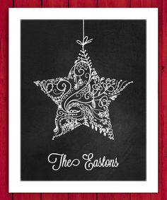 Another great find on #zulily! Ornate Ornament Personalized Wall Art by Little Elf Print Co #zulilyfinds