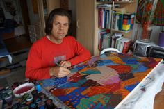 """""""at work"""", 05. - 09. 2014, """"1984 / 2014 - geometrical composition with additional drawed dots"""", #pixelism - ca. 120.000 painted #pixels, acrylic on canvas, 80 x 60 cm, ■ = 2 x 2 mm, (31.50"""" x 23.62"""", ■ = 0.08"""" x 0.08""""), painting time: 431 hours. #finearts, #colorcomposition."""