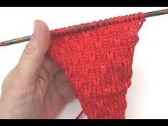 How to knit a Strawberry Stitch * Knitting Stitch