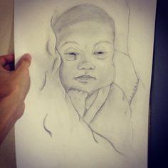 Baby drawning