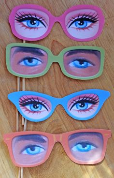 Ken and Barbie photo prop printable paper glasses kit. Download instantly DIY templates/patterns to print & make 5 specs - by Happythought. by happythought on Etsy https://www.etsy.com/listing/160094479/ken-and-barbie-photo-prop-printable