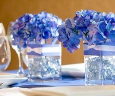 Resultado de imagem para convite de casamento azul e branco