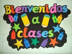DECORACIONES INFANTILES THE TEACHER: LETRERO DE BIENVENIDOS A CLASE LINDO LETRERO DE ...
