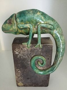 green - verde - Chamäleon - camaleão