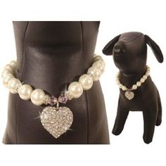 Amazon.com: Uptown Girl Pearl Necklace for Dog Cat Pet: Pet Supplies