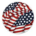 Patriotic Stars and Stripes Ceramic Pull or Knob