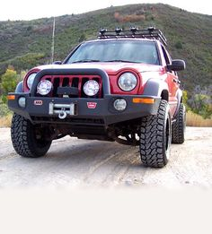 We've been designing Jeep Liberty lift kits since 2002 and have more experience than any other company. Our Rockfather suspension system provides the best ride quality and handling out of any Jeep Liberty lift kit on the market. Jeep Liberty Lifted, 2006 Jeep Liberty, Off Road Bumpers, Jeep Bumpers, Suv 4x4, Jeep 4x4, Jeep Liberty Renegade, Red Jeep, Nissan Patrol