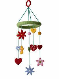 Heart & Flower Mobile by Klippan