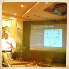 Disc profiling in presentations.. I'm DC too! Photo by presentationstudio.com