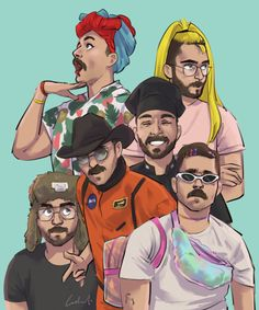 A collection of sketches of Julien Solomita's various intricate personalities. Note: This print arrives with a white border - the dimensions stated represent the size of the image alone. Julien Solomita, Jenna And Julien, Guy Drawing, Drawing Practice, Drawing Stuff, Pin Up Tattoos, Marble Art, Perfect People, Just Friends