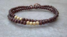 Dalton double strand wood bead bracelet for men by TheLadyLou, $8.00