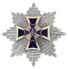 Marinekreuz mit Silberstern Saint Lazarus, Caroline Kennedy, Badges, Awards, Army, Military, Brooch, Antiques, Design