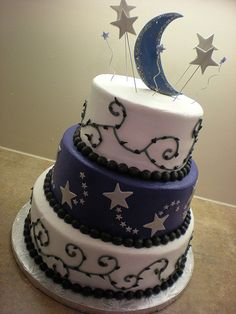 Sun, Moon, Stars Cake