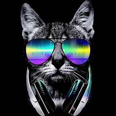 'Music Lover Cat' Art Print by clingcling Diamond Drawing, 5d Diamond Painting, Cat Art Print, Framed Art Prints, Buy Music, Thing 1, Kid Cudi, Music Lovers, Painting Frames