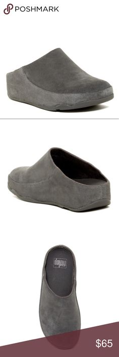 FitFlop Platform Clog NWT.  Generous fit (For average to wider feet) APMA* seal of acceptance, for footwear found 2 promote good foot health Biomechanically engineered, supercomfortable slippers / clogs. Lightly padded suede uppers, treated with 3M™ scotchgard™ for water repellence Elastic side inserts for a perfect fit across ur instep Microfiber lining & footbed cover Seamless built-in arch contour. Lightweight, slip-resistant sole with hardwearing rubber pads. Fitflop Shoes Mules & Clogs