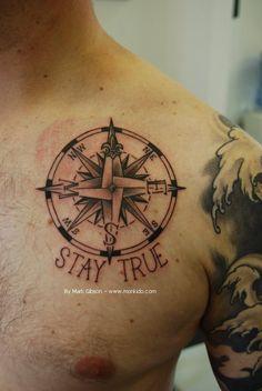 antique compass tattoo