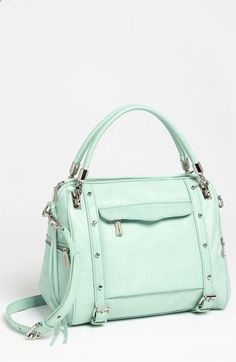 Rebecca Minkoff Cupid Satchel in mint #green| #Nordstrom