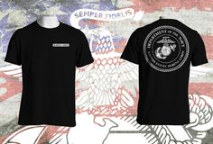 United States Marine Corps Tribute Tshirt with name tag customization possibility by BrutalVisual