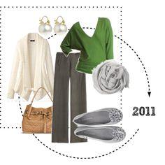 Gray green & beige