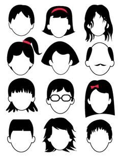 Blank Faces Drawing Page - Free Printable - Dabbles & Babbles