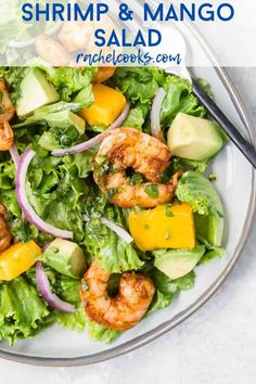 For a light and refreshing entree, enjoy shrimp salad with mango and avocado. Even better, you can have this main dish salad on the table in less than 30 minutes.