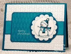 Stamping with Klass: Merry Blue Snowman