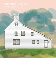 Whitney House RIGHT elevation. A Saltbox inspired Home.