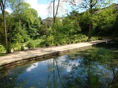 Prior Park : The Serpentine Lake & The Mansion, Bath,   UK