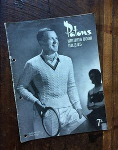 Vintage 1950's Patons Knitting Book no. 245  8 patterns