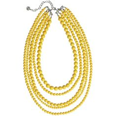 R J Graziano Yellow pearl necklace found on Polyvore