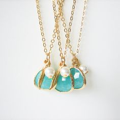 Tiffany Blue Necklaces by Lisa Blakely on Etsy