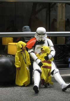 It's nice to see such progressive families these days. Stormtroopers adopting Pikachus and so forth...