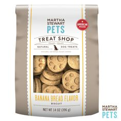 #AmericanMade #MarthaStewartPets Treat Shop | Natural Banana Bread Dog Treat only @petsmartcorp