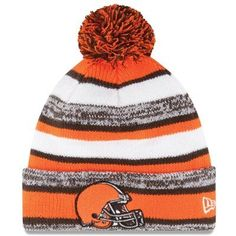 c88171d79db8d Mens Cleveland Browns New Era Orange On-Field Sport Sideline Cuffed Knit Hat  - cascade
