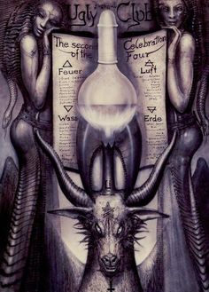 The set is Taschen's reworking of Giger & Akron's Baphomet Tarot der Unterwelt set from 1994, and I recall this being one of the last things Taschen created with Giger after spending the previo…