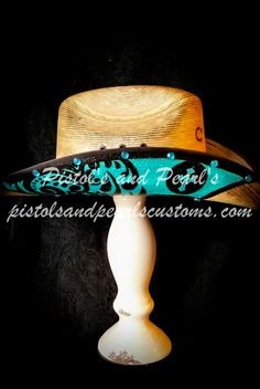 Pistol's and Pearl's Hat Gallery Hand Painted and Embellished Cowboy and Cowgirl Hats for the advent PISTOLSANDPEARLSCUSTOMS.COM