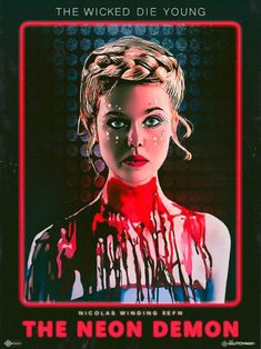 "I created these posters based on the first ""The Neon Demon"" stills that have been released.The first poster highlights the strong pink tone, resembling neon lights. On the others, I used VHS covers from horror movies as inspiration. Horror Movie Posters, 80s Posters, Horror Movies, Marvel Movies, The Neon Demon, Fan Poster, Movie Poster Art, Elle Fanning, Jena Malone"