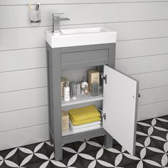 Every cloakroom deserves a small vanity unit! Our cloakroom vanity units include slim line vanity unit choices in different colours, wall hung & freestanding. Small Bathroom Sinks, Bathroom Furniture, Small Toilet Room, Cloakroom, Small Bathroom Storage, Small Bathroom, Cloakroom Vanity Unit, Small Bathroom Sink Vanity, Small Downstairs Toilet