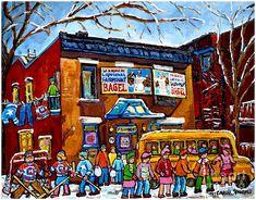 Carole Spandau - Yellow school bus, Montreal