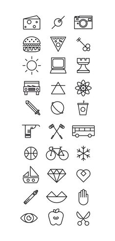 Tatto Ideas 2017  Loves Data Loves || Pack Carnet Jove 2012 by Rafa Goicoechea via Behance #icons