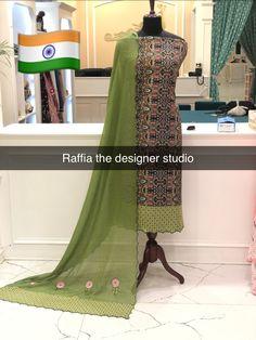 Embroidery Suits Design, Punjabi Salwar Suits, Imitation Jewelry, Block Prints, Fashion Dresses, Sari, Colour, Jewellery, Studio