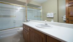 Whistler Rental Northern Lights #32 Second Bathroom with Spacious Countertop