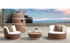 Baidani Rattan Garten Lounge Set Turm Breda