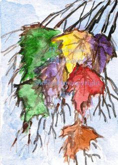 Colorful leaves that is so simple and a cool art! Doodle Pictures, Art Journal Backgrounds, Pop Art Portraits, Cool Art, Awesome Art, Watercolor Trees, Environment Concept Art, Geometric Art, Tree Art