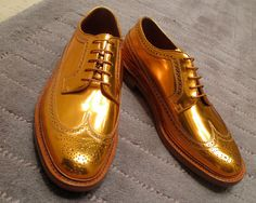 Florsheim by Duckie Brown in gold. Amazing.