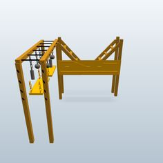 American ninja warrior training course made with 123D Design