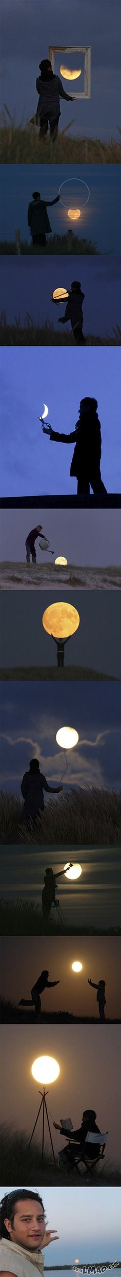 Will this make you laugh? The Moon